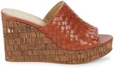 Thumbnail for your product : Etienne Aigner Devin Woven Leather Platform Slides