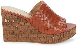 Etienne Aigner Devin Woven Leather Platform Slides