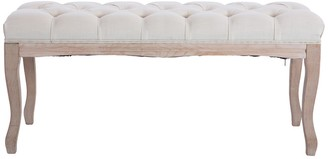 Overstock French Style Natural Oak Wood Bench
