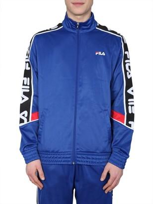 Fila Logo Band Zip Up Sweatshirt