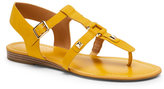 Franco Sarto Tropical Yellow Geyser Flat Gladiator Sandals