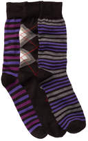 Lorenzo Uomo Assorted Crew Socks - Pack of 3