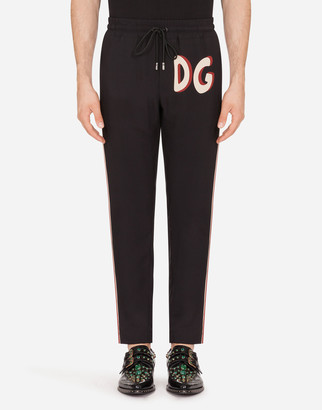 Dolce & Gabbana Cady Jogging Pants With Pin-Up Print