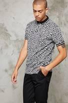 Forever 21 FOREVER 21+ Leopard Print Polo Shirt