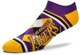 For Bare Feet Women's Los Angeles Lakers Argyle No-Show Socks