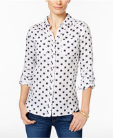 Charter Club Linen Printed Shirt, Only at Macy's