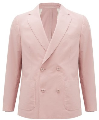 Officine Generale Leon Double-breasted Cotton-poplin Jacket - Pink