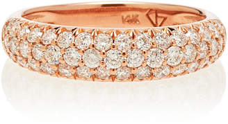 Carbon & Hyde Dome 18K Rose Gold And Diamond Ring