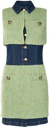 Moschino Layered Button Dress