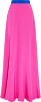Roksanda Leighton two-tone silk maxi skirt