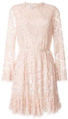 Needle & Thread embellished flared sleeve dress