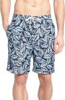 Men's Trunks Surf & Swim Co. Swami Magnolia Leaves Print Board Shorts