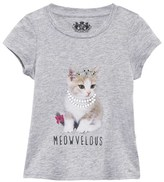 Juicy Couture Grey Marl Cat Print and Jewel Detail Tee