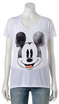 Disney Disney' Juniors' Mickey Mouse High-Low Graphic Tee