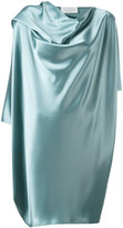 Gianluca Capannolo draped metallic dress - women - Polyethylene/Triacetate - 40