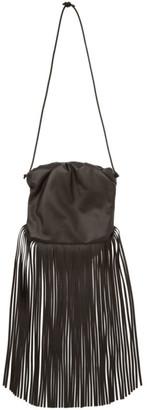 Bottega Veneta Brown The Fringe Pouch Shoulder Bag