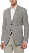 Paul Smith Mini-Check Two-Button Sport Coat, Brown/Teal