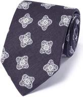 Charles Tyrwhitt Navy Linen English Luxury Medallion Tie