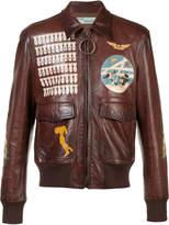 Off-White missiles print biker jacket
