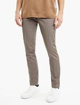 Lanvin Grey Stripe-Seam Cotton Trousers