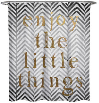 """Oliver Gal Enjoy the Little Things"""" Shower Curtain, 71""""x74"""""""