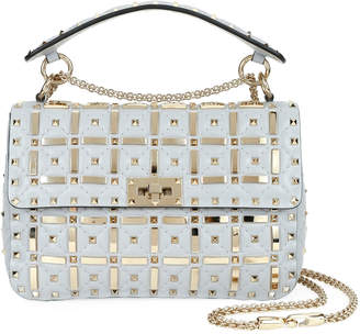 Valentino Garavani Spike.It Medium Shoulder Bag with Geometric Detail