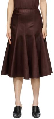 Joseph Burgundy Linen Sula Skirt