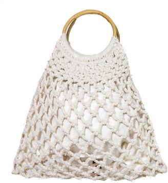 Area Stars Macrame Round Handle Tote Bag