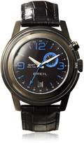 Breil Milano Watch, Men's Orchestra GMT Dual Time Black Croc Leather Strap 45mm TW1194