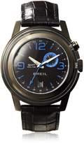 Breil Milano Watch, Men's Orchestra GMT Dual Time Black Croc Leather Strap 45mm TW1194
