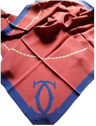 Cartier Burgundy Silk Silk handkerchief