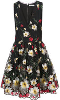 Alice + Olivia Alice+Olivia - floral embroidered dress - women - Polyester/Spandex/Elastane - 2