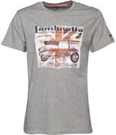 Lambretta Mens Crew Neck Square Scooter Print T-Shirt Grey Marl