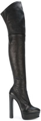 Casadei thigh length platform boots