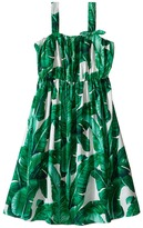 Dolce & Gabbana Botanical Garden Banana Print Flared Dress (Big Kids)