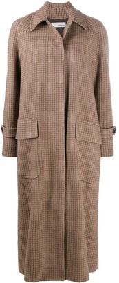 Lardini Mid-Length Houndstooth Coat