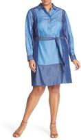 Foxcroft Colorblock Shirtdress (Plus Size)