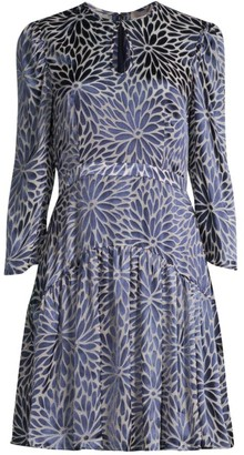 Rebecca Taylor Autumn Bloom Long-Sleeve Dress