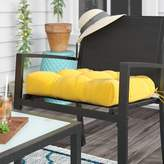 Andover Mills Sarver Indoor/Outdoor Dining Chair Cushion Fabric: Sunbeam