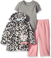 Bon Bebe Girls' 3 Piece Microfleece Jacket Set