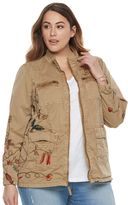Plus Size SONOMA Goods for LifeTM Floral Embroidered Jacket