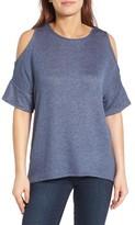 Bobeau Women's High/low Cold Shoulder Sweatshirt