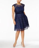 Rachel Roy Trendy Plus Size Lace Fit & Flare Dress