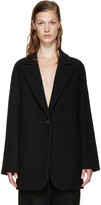 MM6 MAISON MARGIELA Black Wool Coat