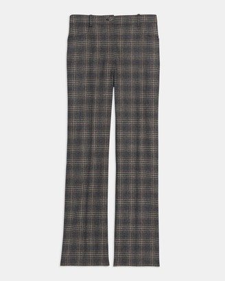 Theory Straight Jean in Plaid Wool
