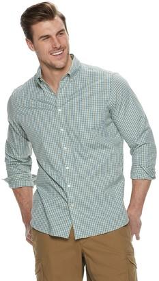 Sonoma Goods For Life Big & Tall Flexwear Poplin Button-Down Shirt