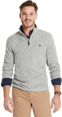 Izod Men's Premium Essentials Classic-Fit Sweater Fleece Quarter-Zip Pullover