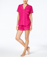 Kate Spade Piping-Trimmed Top and Shorts Pajama Set