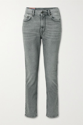 Acne Studios High-rise Straight-leg Jeans - Gray