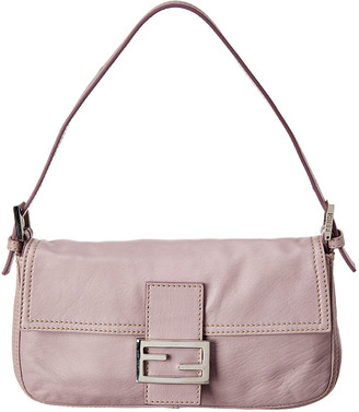Fendi Purple Leather Baguette Bag
